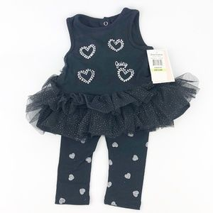 3-6 MO Juicy Couture Baby Girls 2 PC Outfit Black